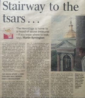 Stairway to the Tsars, Saturday Times