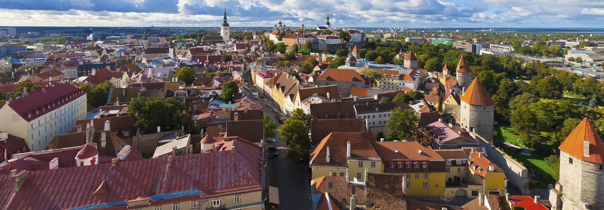 Panorama of Tallinn, Estonia Exeter