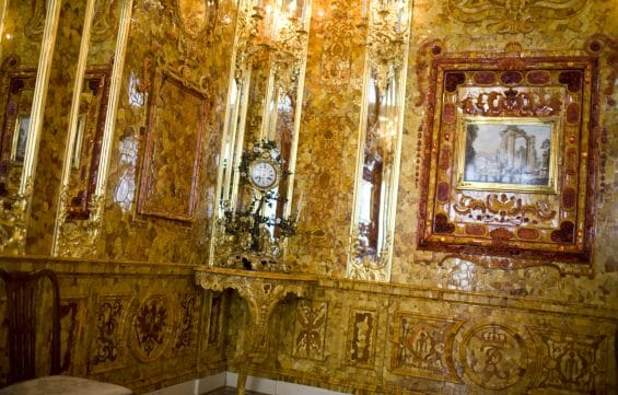 Amberroom Catherine Palace, St. Petersburg, Russia