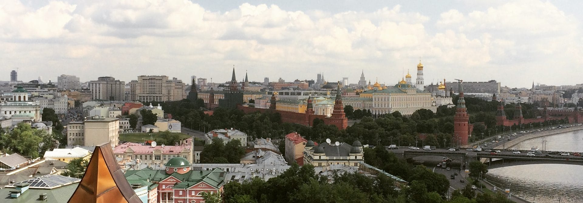 View of the Kremlin from Christ the Savior Cathedral - Moscow, Russia