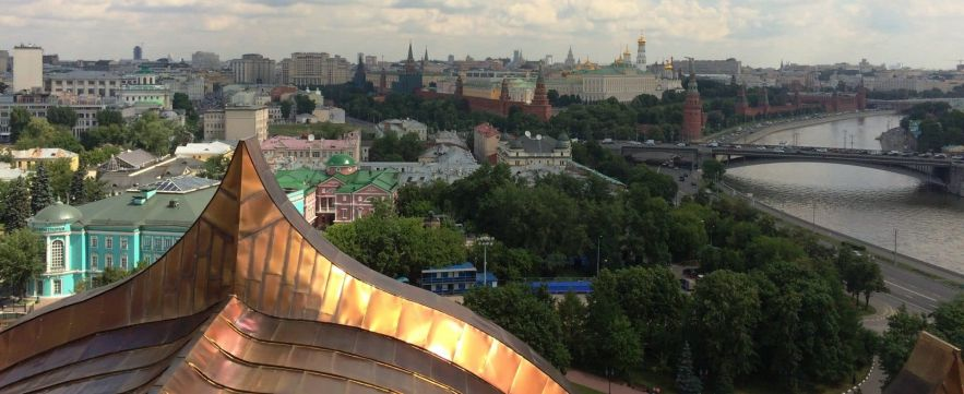 View of the Kremlin from Christ the Savior - Moscow, Russia