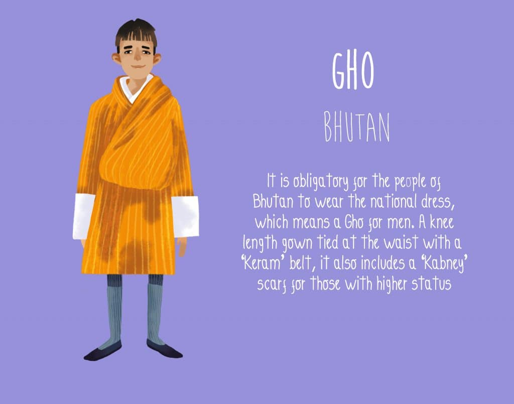 Bhutan Gho National Dress