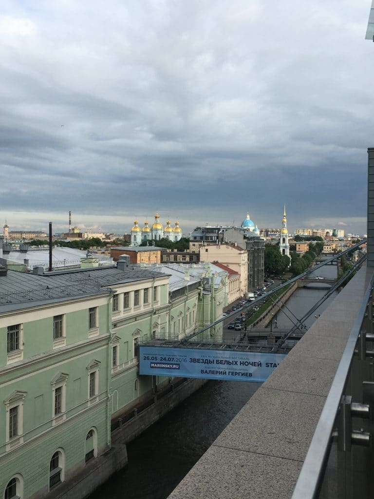View from Mariinsky II Rooftop St Petersburg