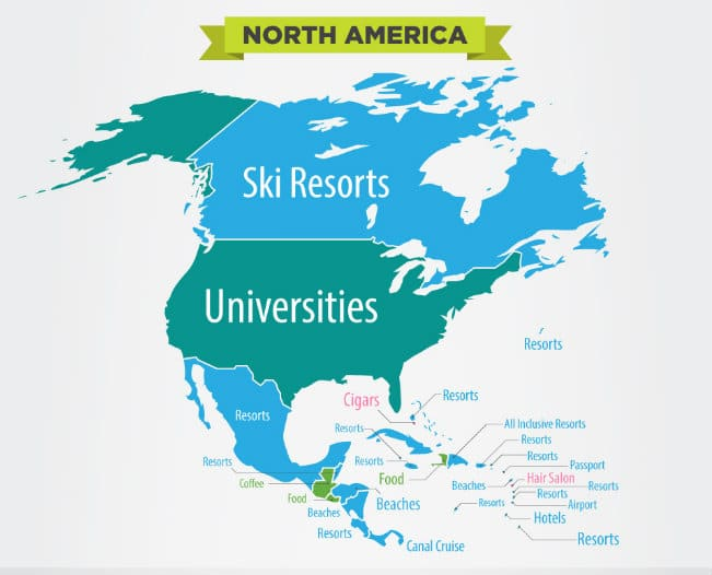 The Vast Array Of Mountains In Canada Has Enticed Searches For Ski Resorts And It S The Iconic U S Universities That People Want To Find Out More About In