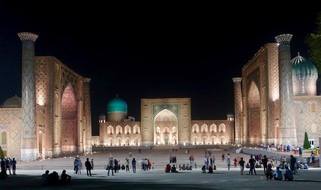 Registan at Night, Samarkand
