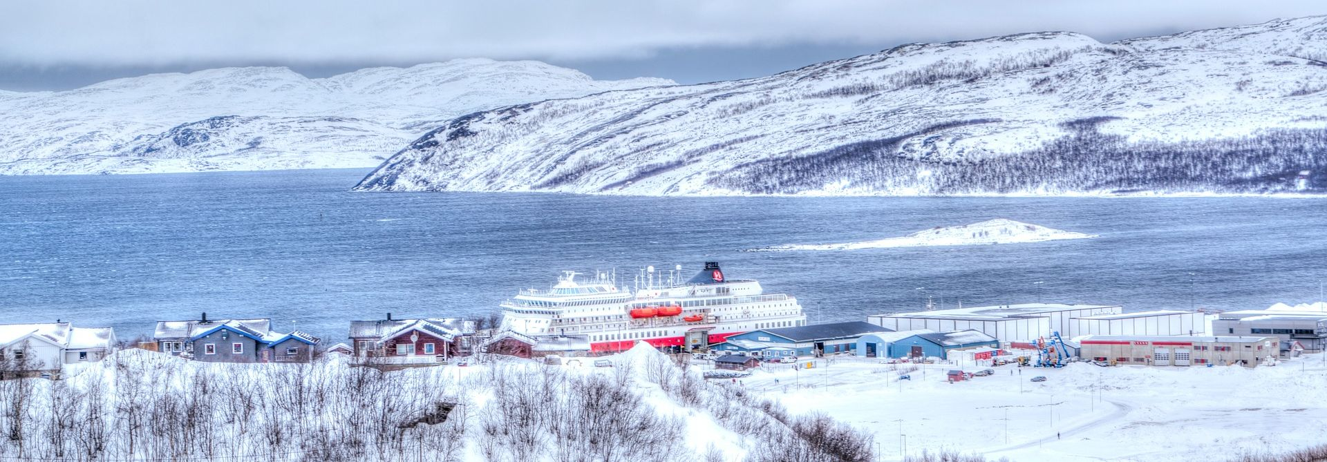 Winter in Kirkenes, Norway